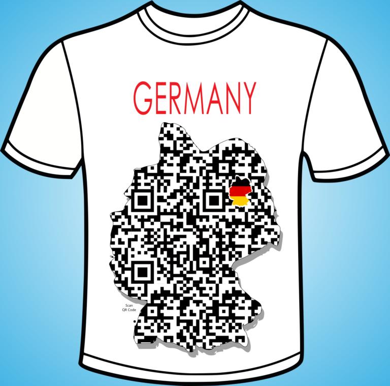 koszulka - GERMANY PIXEL MAPS - QR