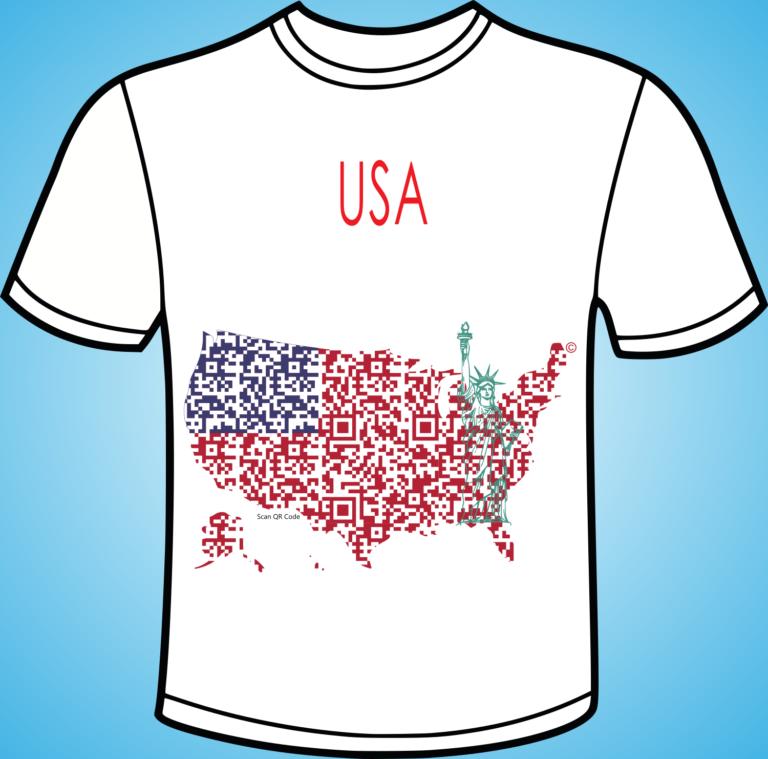 koszulka - USA - PIXL MAPS- QR